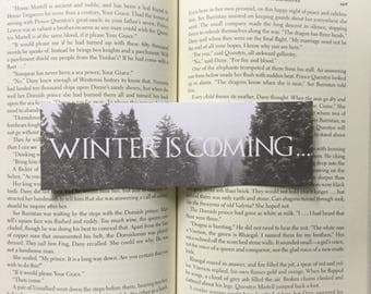 Winter is Coming | Game of Thrones Inspired Bookmark
