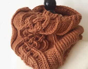 Celtic Knot Cable Cowl Scarf