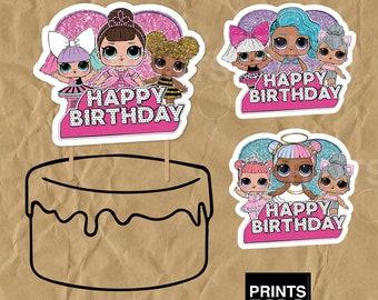 Lol surprise cake topper, Lol surprise party, Lol surprise Centerpiece, Lol surprise dolls birthday, Lol Cake topper, Lol Party, Lol party