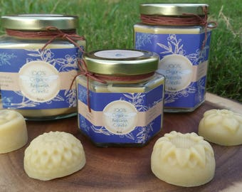 Organic Beeswax Candle, Pure and Natural Beeswax Candles 4oz. 9oz. 12oz. Organic Candle in a Glass Jar Candle with lid.