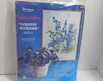 Country Roadside Crewel Embroidery Kit Paragon Creative Stitchery
