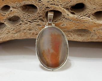 Scenic Dendritic Agate, Sterling Silver, Pendant, Agate, Dendritic Agate, .925 Sterling Silver, Focal, Beading, Jewelry, Supply