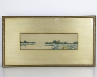 Antique Painting - FRANCIS GORDON FRASER (1879-1940) - British Scene - Framed