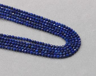 2mm Faceted Lapis Lazuli Beads Wholesale Loose Bead Round Ball With Well Ploished YHA-322
