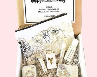 Valentines Gift Basket - Valentines Day Gift Sets for Women - Personalized Valentines Day Gift for Wife, Girlfriend, Friends (EB3231SPA)