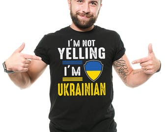 Ukraine T-Shirt Funny Ukrainian Patriot Ukraine Flag Birthday Gift Tee Shirt