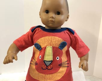 "15 inch Bitty Baby Clothes, Super Cute ""LION"" Dress, 15 inch AG Doll Bitty Baby or Twin Doll, Animal Lover - Let's go to the ZOO!"