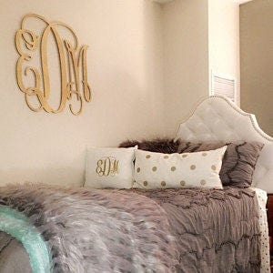 Painted Dorm Room Monogram   Monogram Wall Hanging   Wooden Initials   Wall  Letters   Monogram Decor   Bedroom Wall Hanging Part 98
