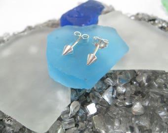 Silver Spike earrings- Sterling Silver*