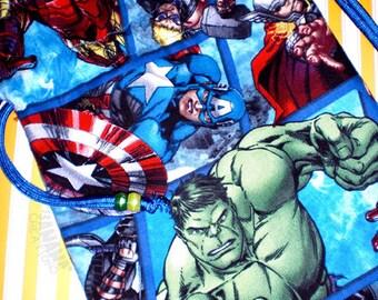 Large Avengers Blue Drawstring Bag
