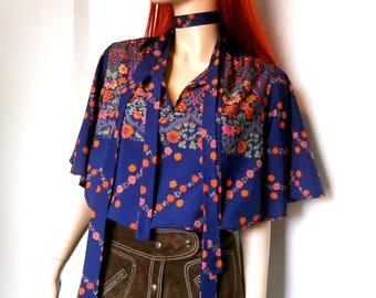 Beautiful original 1970's M&S floaty blouse