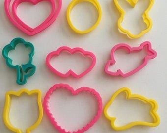 Valentines Day  Easter Spring  Cookie Cutter Lot