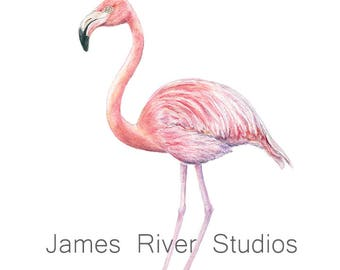 Flamingo Art Flamingo Painting Flamingo Print Flamingo Wall Art Flamingo Wall Decor Flamingo Decor Flamingo Poster Pink Flamingo Watercolor.