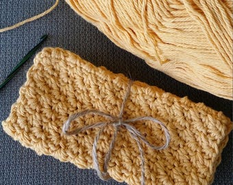 100% Cotton Dishcloths (Corn Silk), Crochet Dishcloths, Cotton Crochet Dishcloths