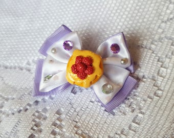 Lilac Pancake Mini Hairbow