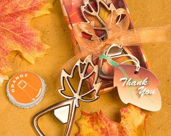 Autumn Magic Leaf Design Bottle Openers - Fall Wedding Shower Party Favor 15-100 Qty  4867