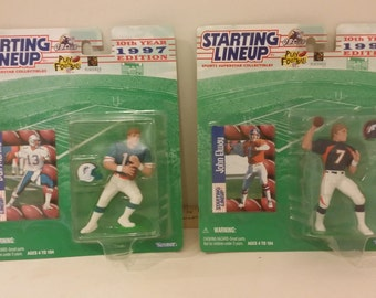 Starting Lineup Figures NIP, Dan Marino and John Elway, 1997