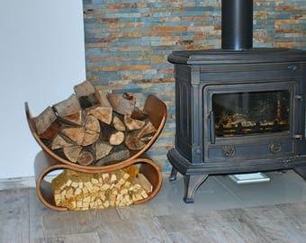 Firewood Holder Bent Plywood // Firewood Rack // Firewood Basket // Firewood Storage // Wood Holder