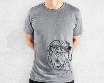 Tufton the English Mastiff - Tri-Blend Unisex Crew Grey - Dog Lover Gift