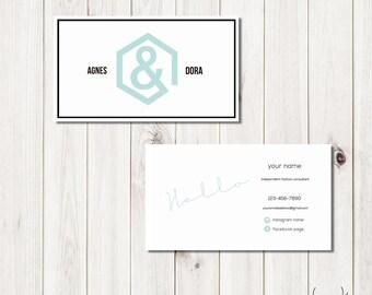 Modern Agnes & Dora Business Card