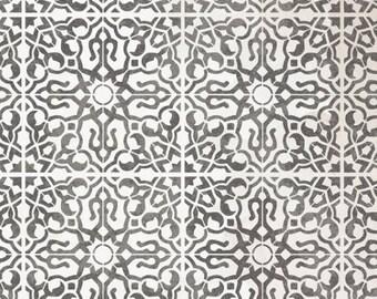 NADIA Tile Stencil - Moroccan Mediterranean Wall Furniture Floor Craft Tile Stencil - NADI01