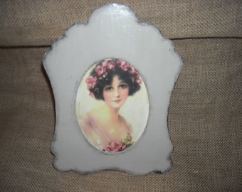 Vintage style little frame with support OOAK