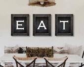 Farmhouse Decor. Eat Sign. Dining Room Wall Art. Farmhouse Sign. Kitchen Wall Art. Dining Room Prints. Kitchen Prints. Farmhouse Prints. 811