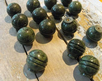15, Cabinet Knobs, Knobs, Salvage Knobs, Big Lot Of Knobs, Porcelain Knobs, Green Marble Knobs, Salvage Knobs, Knobs, Green Knobs