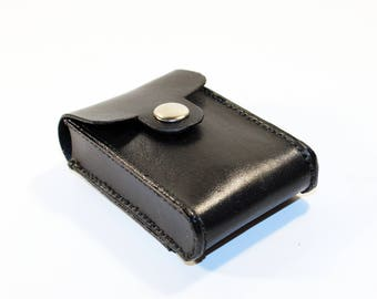 Credit Card Holder leather , Business Card Holder, Black Leather Credit Card Wallet, Black Card Holder. Great Gift.
