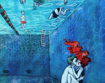 """The bottom of the pool"" print"