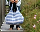 Très grand sac de plage en toile rayures, sac de plage rayé, Cabas de plage en lin, Sac pour les vacances, Sac de plage familial, Sac yoga