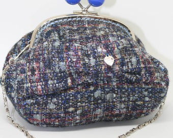 Evening bag vintage blue