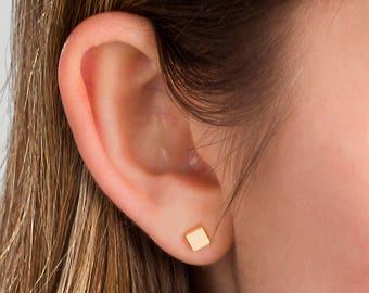 Small Gold Stud Earrings · Tiny GOLD Earrings · Minimal Gold Earrings · Simple Stud Earrings · Gold Bar Earrings