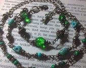 Bracelet: Elvenan, in green stone the heart of forest
