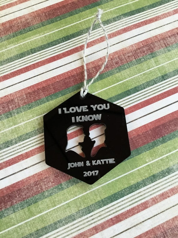 I Love You I Know Christmas Ornament Star Wars Inspired