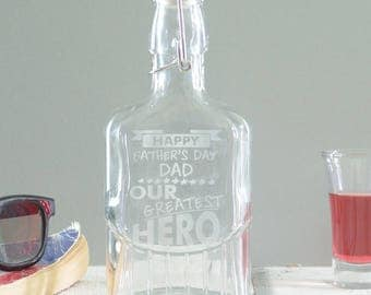 Greatest Hero Personalised Sloe Gin Bottle