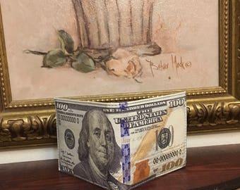 100 Dollar Bill Printed Wallet