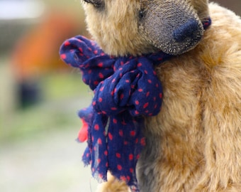 RESERVED!!!!Brungilda  36 cm   animals-stuffed- bear-interior toy-personalized teddy bear mohair- ooak-authors teddy bear
