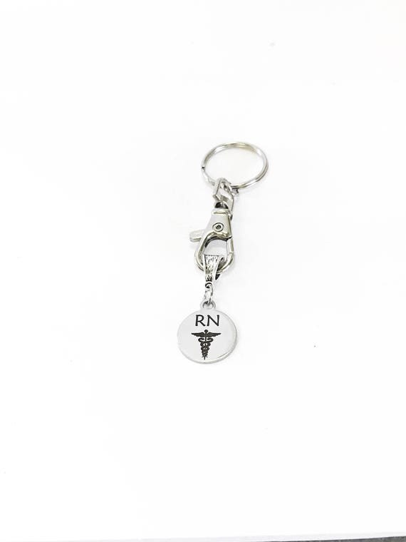 RN Keychain Gift, Registered Nurse Gifts, Nurse Graduation Gift, Traveling Nurse Christmas Gifts, Favorite Nurse, Employee Gifts for Nurses