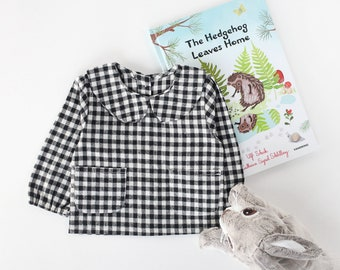 Plaid Cotton Blouse Top for Baby Girl