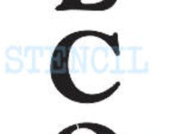 """WELCOME STENCIL Vertical 6 Sizes 6""""x24"""" -- 10""""x60"""" for Painting Porch Signs Entryway Walls Pillows Canvas Fabric Wood Airbrush Crafts Shop"""