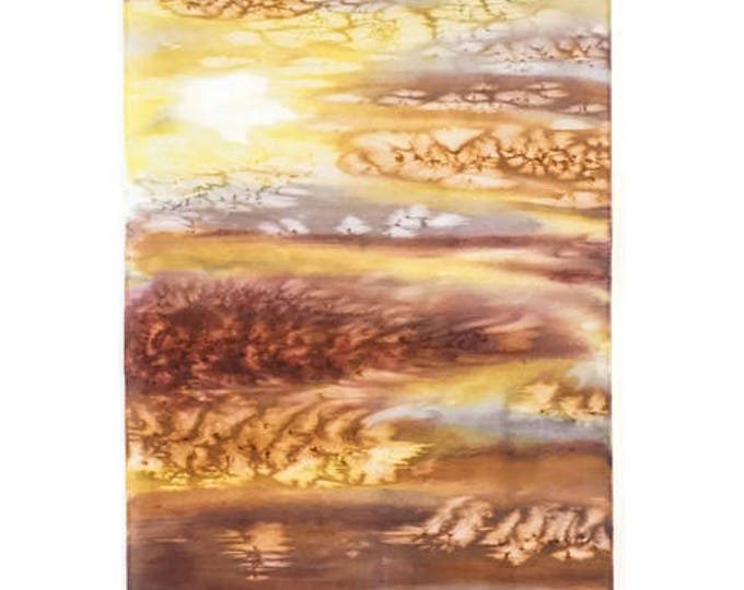 Yellow & Gray Wall Art-Watercolor Silk Tapestry-Yellow and Gray Decor-Nature Tapestry-Sunrise Painting-Home Decor Gift-Watercolor Home Decor