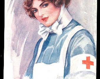 "1916 Red Cross Nurse ""An Angel of Mercy"" Postcard"