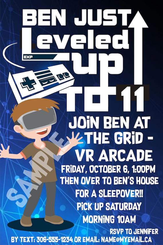 Virtual Reality Vr Birthday Party Invitation
