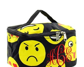 Emoji Pencil Pouch ; Monogrammed Cosmetic Case ; Personalized Toiletry Bags ; Snack Case Lunchbox ; Crayon Organizer