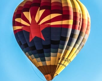 "Wall Art ""Arizona Rising"", Hot Air Balloon, Phoenix"