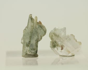 Faden Fadens Quartz Crystal with CHLORITE INCLUSIONS - Mineral Collection - Healing - Reki - Chakra - RARE - Crystals - You get x2 in pics