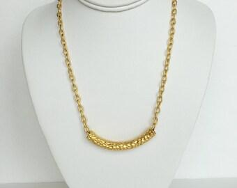 22kt Grecian Matte Gold Necklace