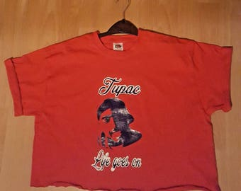 Vintage womens hip hop,tupac crop top tshirt ,musical,rapper