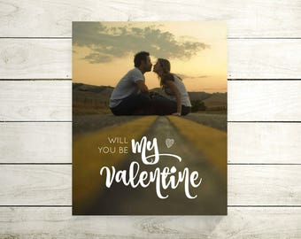 Will You Be My Valentine   Anniversary   Valentine Day Gift For Her   For Him   For Husband   Wedding Vow Song Canvas   Lyric - 38477
